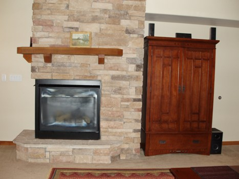 Fireplace and Entertaiment Center